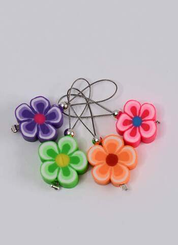 Stitchmarkers - set with flowers